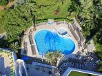 Novotel shared pool. Aerial view