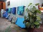 We provide Beach Towels for each guest and a large assortment of beach gear.