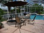 Screened Solar/Electric heated Pool and Spa