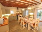 Country style kitchen with modern facilities