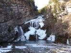 Cameron Falls in the Winter.