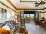 Living, Dining areas and Lanai.