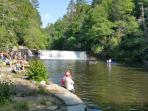 Hooker falls is a great spot for a swim, an easy .5 hike in Dupont State Forest