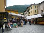 Tuesday is market day in Lenno