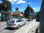 The cross-roads in Lenno - Via Rima with Via Statale (SS3340) - taken from Sigma supermarket