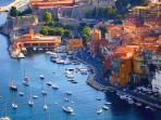 Aerial view of this stunning French fishing village