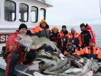 Fishing trip for cod in march.