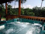 Enjoy the leisure in the hot tub accompanied by birdsong and views