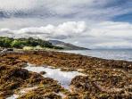 Short walk to local shore towards Brodick