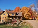 Front of Lodge...Beautiful maple trees in the fall