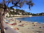 The lovely beach of Villefranche, just a few minutes walk down from Villefranche Vista