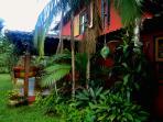 The terras and garden...