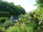 Le jardin à l'entrée de la propriété