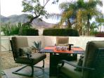 Your Private patio w/BBQ,  fire pit and a Great Mountain View Enjoy your coffee