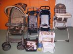 All you need for your kids : 2 cribs, strollers, high chair, boosters, reduce toilet, toys