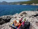 Private Rocky Beach at Kavos Bay