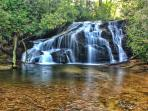 'White Owl Falls', a thirty foot waterfall accessible directly from our properties hiking trails.