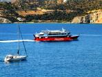 'Alexandros Ferry' from Athens (port of Pireaus) to Agia Marina
