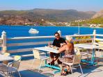 Breakfast on the Kavos Bay sundeck