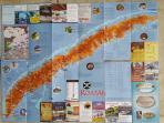 Roatan tour map.