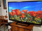 New 60' UHD TV with free Netflix, Amazon Prime and Comcast on- demand movies and programs.