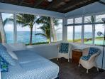 Front ocean-side lanai bedroom with sitting area.