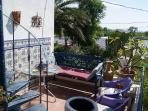 Private lower dining/bbq terrace - lovely garden views