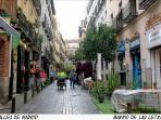 Huertas Street, just 1 minutes walking from apartment
