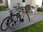 vélos homme et femme à disposition