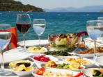 At Bodrum Beach, enjoy a traditional Turkish Meze right by the shore - heaven!