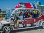 GOLF CART TO TAKE RESIDENTS TO THE BEACH