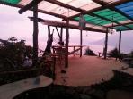Open air kitchen during build