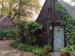 This is your cozy Gothic Cottage with Heat / AC, WiFi, Cable TV, Kitchen w 4 burner stove, refrig...