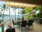 Outdoor Lanai with coastline and ocean views