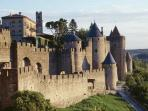 Ever popular Carcassone is 45 mins drive. Be here for Bastille day for amazing fireworks!
