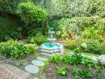 Your beautiful private garden with fountain.