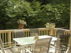 back deck: seating for 12-14