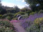 Der Garten liegt am Ortsrand im SW- Richtung mit schönem unverbautem Blick in die Kulturlandschaft.