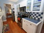 Bright and Cheery Kitchen with Stainless Appliance