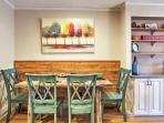 Enjoy a family meal at the elegant dining table
