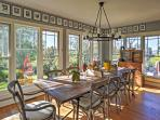 This spectacular dining room is ideal for entertaining.