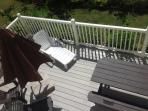 Masterbed balcony overlooking deck