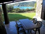 External dining area with view