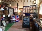 Our little local history museum on the ground floor of the stables - currently it's the Great War