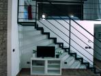 TV AREA AND STAIR