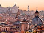 Rome: you can reach Rome by train in 30 minutes. The station is 5 minutes from the apartment