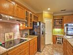 Prepare your favorite foods in the fully equipped kitchen.