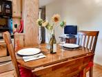 You'll love spending quality time with your loved one at this beautiful wooden dining table.