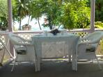 Table & Chairs from ocean / beach view veranda of the house.