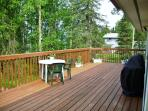 Enjoy spectacular views from the massive private deck.